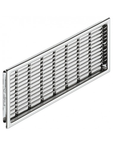 Ventilation Plinth Grill 220x57mm Recess Mount Chrome