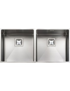 Rangemaster Antlantic Kube KUB4040 Double Undermount Sink
