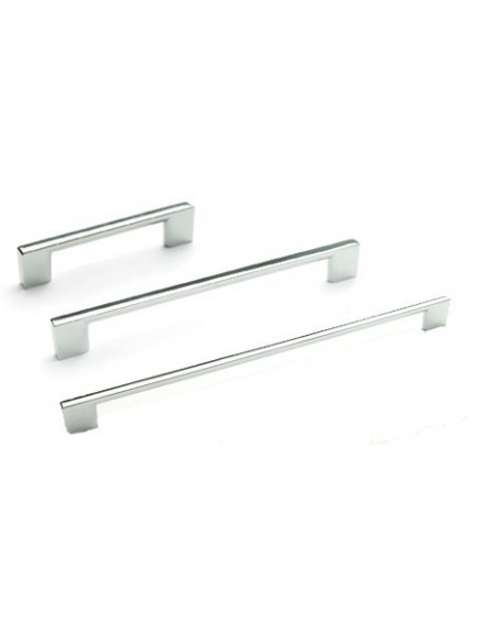 FF830 Slim Square 'D' Handle Quality Chrome Finish - 3 Sizes