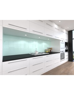 Ice White & Ocean Wave Splashback Alusplash