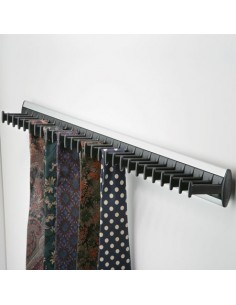 Tie Rack 28 Ties Side Mounted To Wardrobe Door