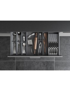 Ambia line cutlery, utensils & knife block set