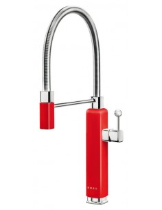 Red, Spray Kitchen Tap By Smeg