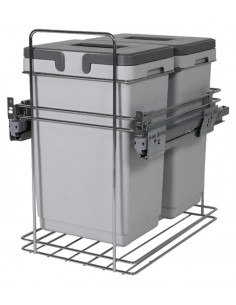 Kombi Pull Out Waste Bin Suits 400mm 2 x 20 Litre Containers