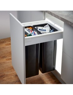 500mm Wesco Pullboy Z Waste Bin, 500mm Depth Blum Antaro