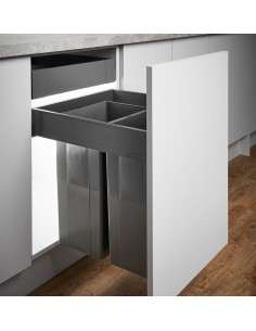 500mm Pullboy Z Waste Bin/Blum Legrabox 58L Softclosing