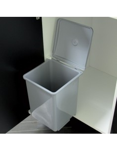 Swing Out Kitchen Waste Bin Hinged Door 400mm Unit 13L