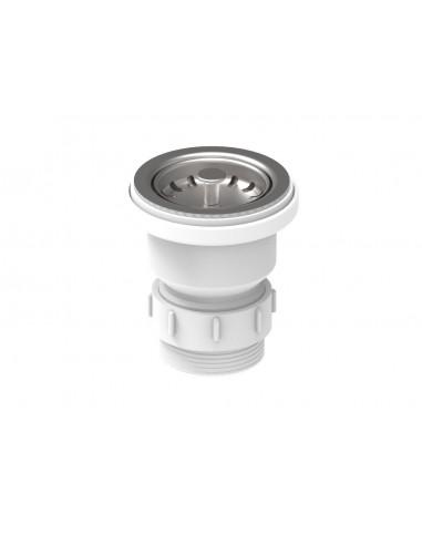 60mm Sink Waste Plugs Basket Strainer Waste Chrome Replacement Sink Plug