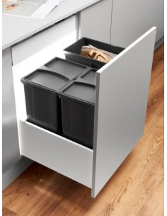 ECO PLUS Waste Bins For Kitchens, Includes Legrabox Runner System
