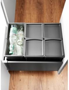 Triple waste bin & Legrabox System by Blum