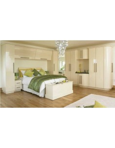 Duleek Cream Gloss Bedroom Furniture
