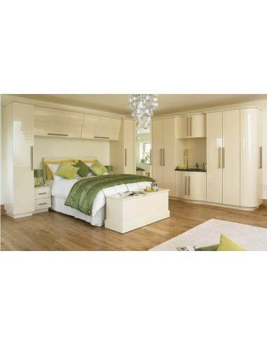 Duleek Cream Gloss Bedroom Furniture