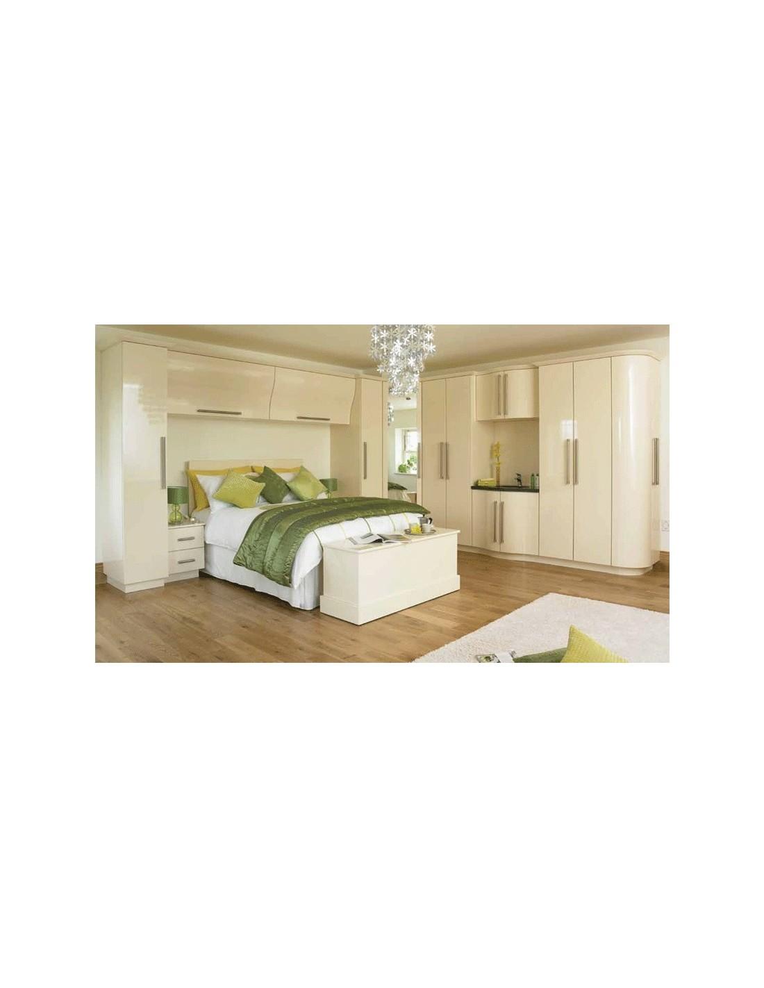 duleek cream high gloss bedroom doors units east coast kitchens. Black Bedroom Furniture Sets. Home Design Ideas