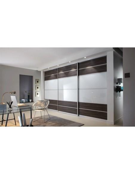 Sliding Bedroom Doors White Avola & Stone Grey