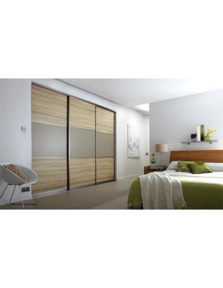 Volante Sliding Bedroom Doors Coco Bolo & Stone Grey