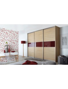 Volante Sliding Bedroom Doors ferrara & Dark Red Glass