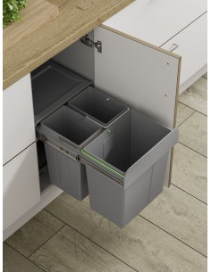 BIN 27 Kitchen Pull Out Waste Recycle Bin 40 Litres Softclose