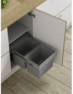 BIN18 Kitchen Pull out Waste Bin Hinged & Fixed Door Sink Base