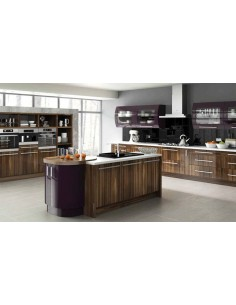 Duleek High Gloss Tiepolo & Aubergine Kitchen Doors/Units