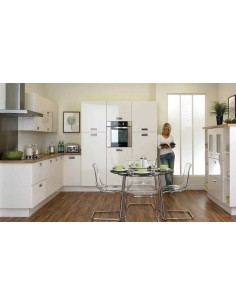 Duleek High Gloss Ivory Modern Kitchen Doors/Units