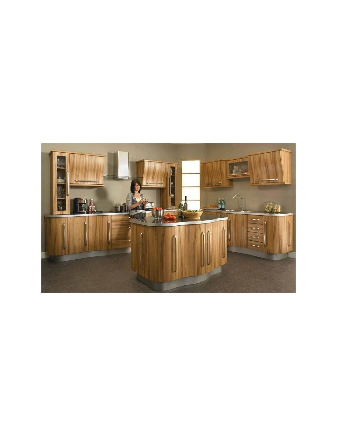 Duleek light tiepolo woodgrain modern kitchen doors units for Wood grain kitchen doors