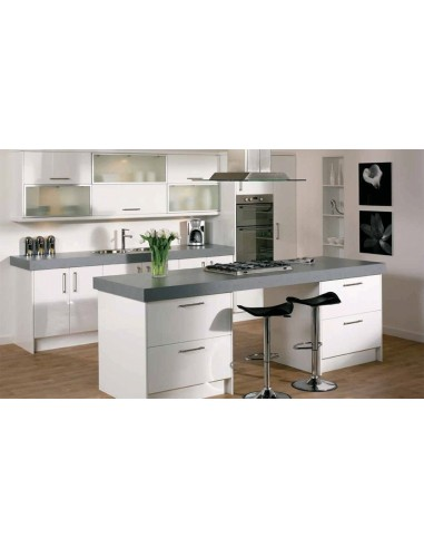 Duleek High Gloss White Modern Kitchen Doors/Units