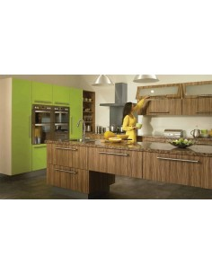 Duleek Olivewood & Gloss Lime Green Modern Kitchen Doors/Units