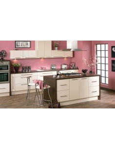 Duleek High Gloss Cream Modern Kitchen Doors/Units