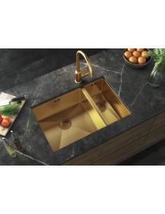 1.5 Bowl Gold kitchen sink, 1.5mm thick