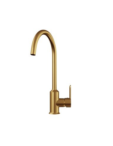 Brushed gold single lever kitchen tap ECK 0021