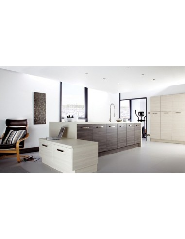 Galaxy White Avola & Brown Grey Avola Contemporary Doors/Units