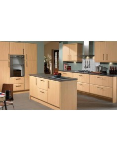 Slab Saponetta Beech Contemporary Kitchen Doors/Units