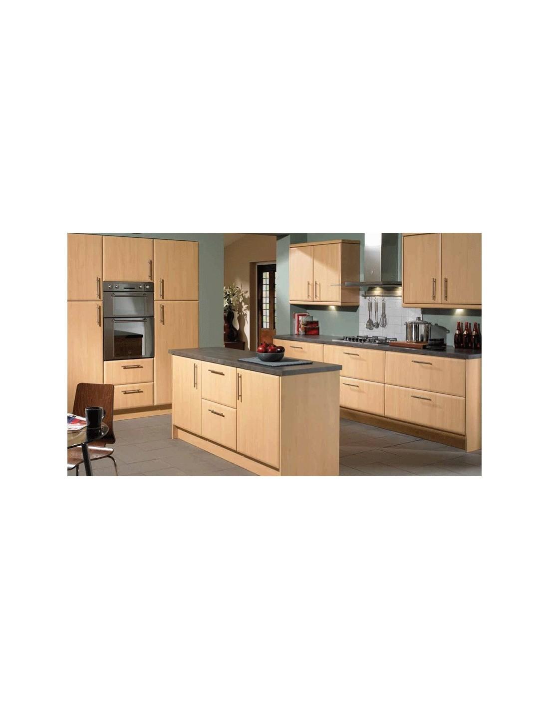 Slab Saponetta Beech Contemporary Kitchen DoorsUnits