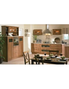 Auckland Medium Walnut Shaker Style Kitchen Doors