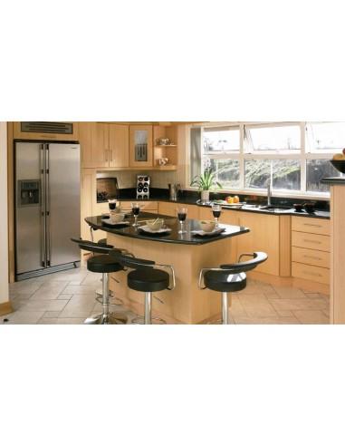 Cologne Beech Shaker Style Woodgrain Kitchen Doors/Units