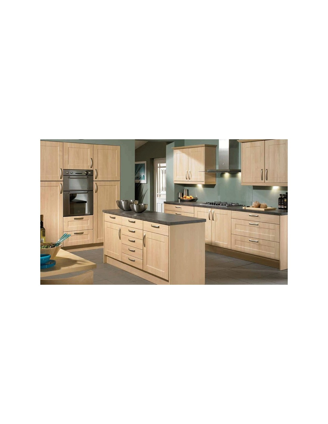 Cologne ontario maple shaker style kitchen doors units for Shaker style kitchen units