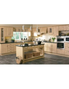Ribbed Shaker Sandy Birch Kitchen Doors/Units
