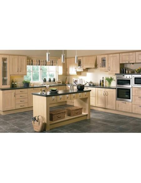 Ribbed Shaker Sandy Birch Kitchen Doors/Units