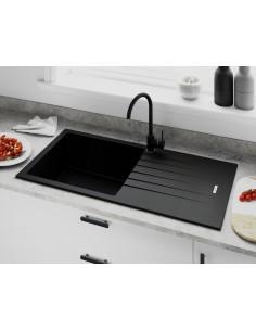 Tivoli D100L Single Bowl Kitchen sink Onyx