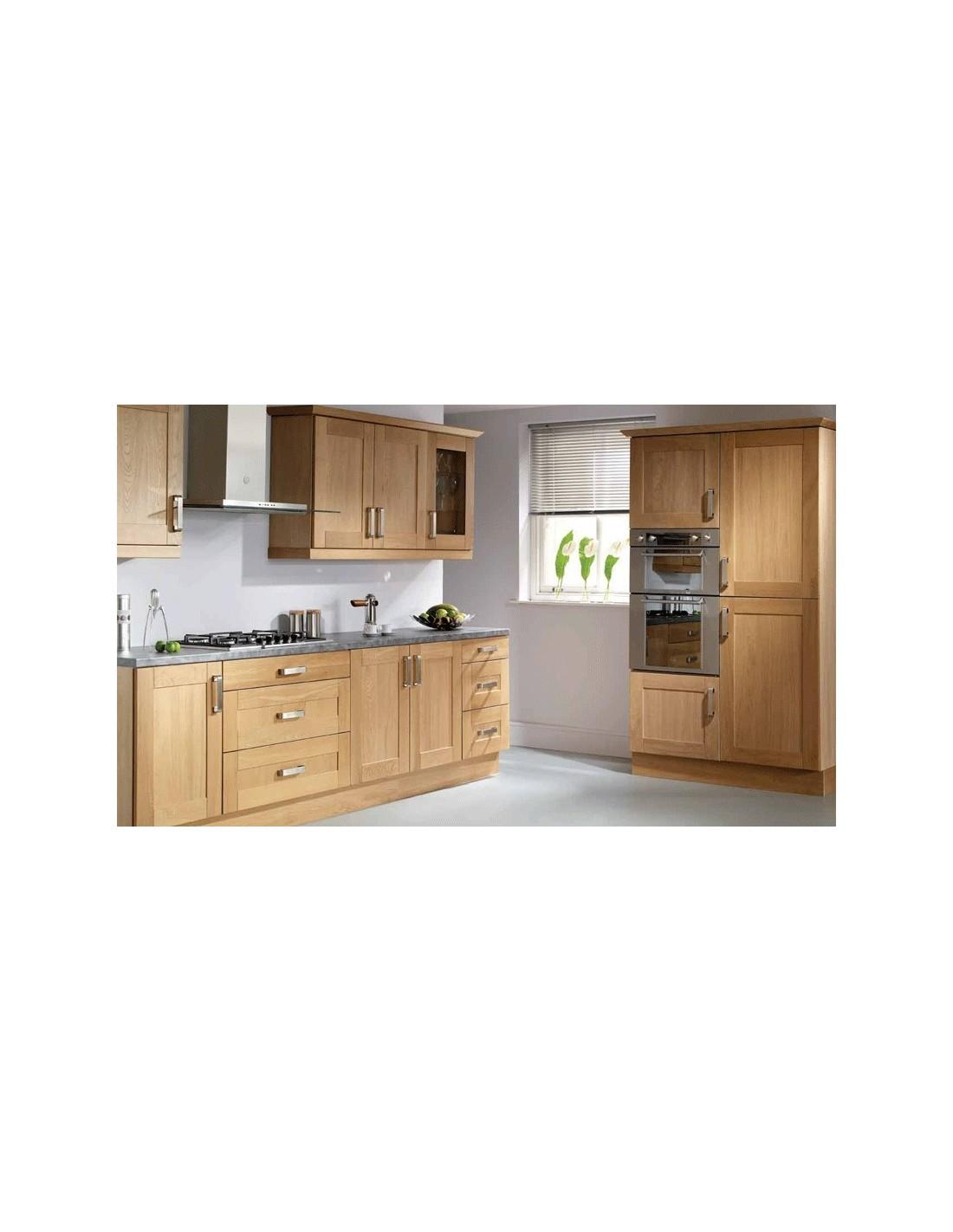 Slab Saponetta Beech Contemporary Kitchen Doors Units