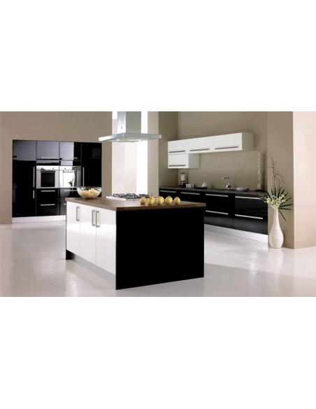 Fusion High Gloss Black & High Gloss White Kitchen Doors/Units
