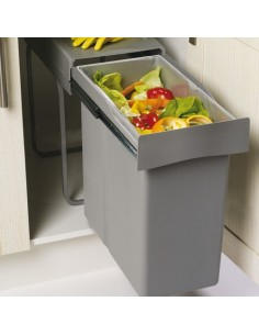 Romagna Single Kitchen Waste Bin 300mm 40L Pull Out