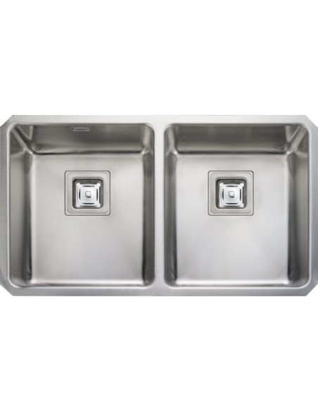 Rangemaster QUB3434 Atlantic Quad Stainless Steel Twin Bowl Sink & Waste