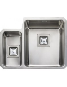 Rangemaster QUB3416 Atlantic Quad Stainless Steel 1.5 Bowl Sink & Waste