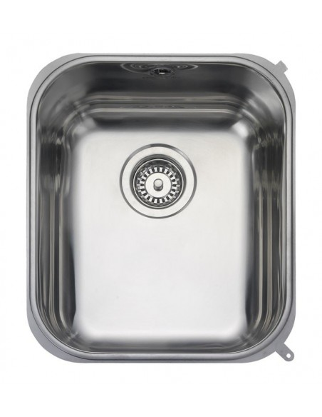 Rangemaster Atlantic Classic UB35 Stainless Steel Medium Bowl Undermount Sink & Waste