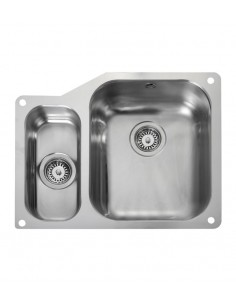Rangemaster Atlantic Classic UB3515 1.5 Bowl Stainless Steel Undermount Sink & Waste