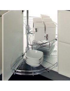 Hafele Slide Out Wire Half Carousel Set For 800mm Corner Base Cabinets