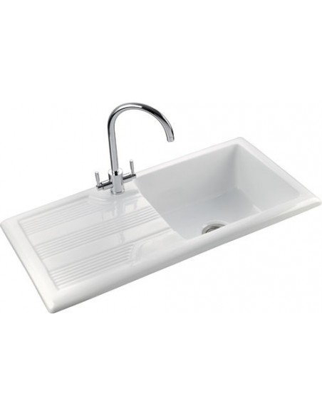 Rangemaster Portland CPL10101 Ceramic Sink White 1.0 Bowl