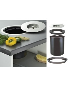 Worktop Waste Bin 11 Litres Recessed Mounting 310mm Dia