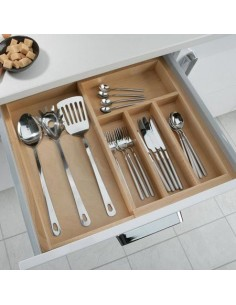 Expanding Cutlery Tray To Suit 450mm Depth BEECH
